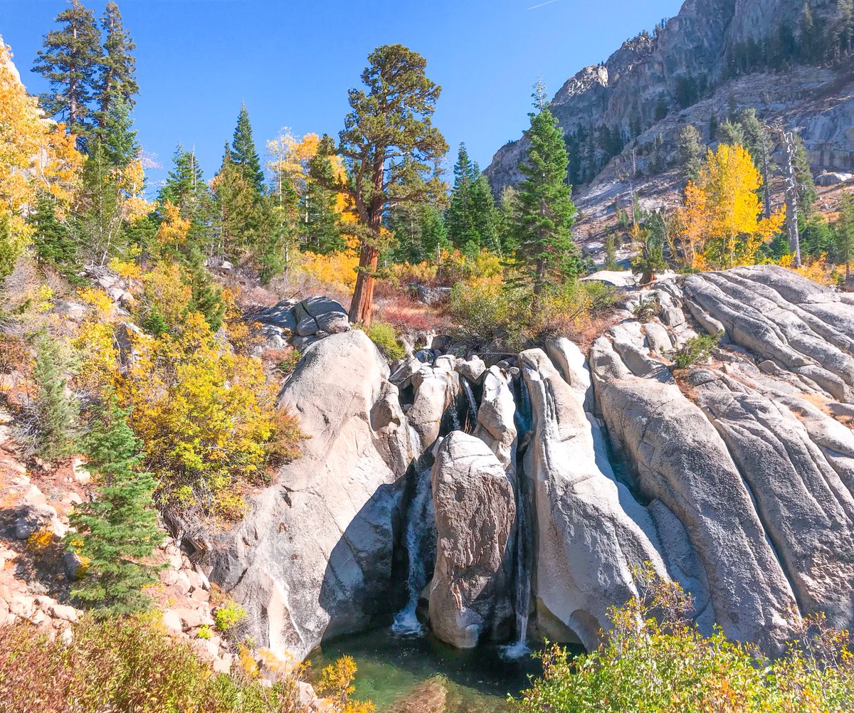 Waterfall on Sonora Pass during fall